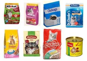 Корма для кошек эконом класса